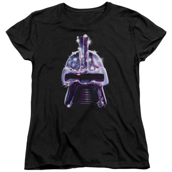 BSG RETRO CYLON HEAD - S/S WOMENS TEE - BLACK T-Shirt