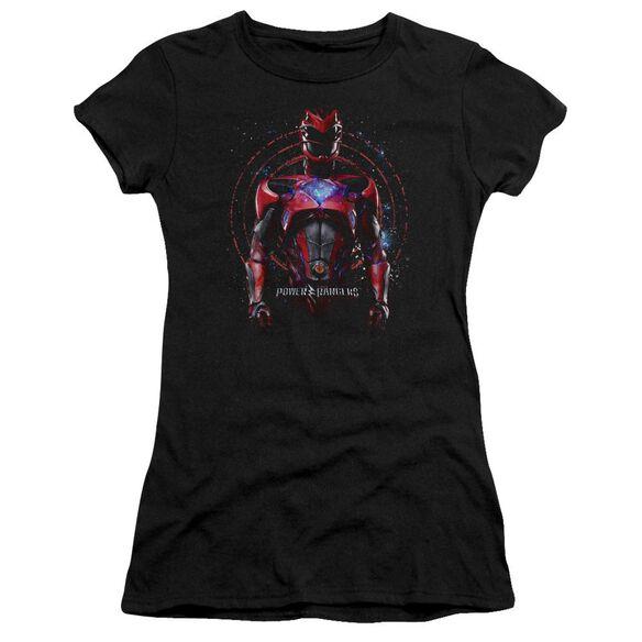 Power Rangers Red Ranger Short Sleeve Junior Sheer T-Shirt