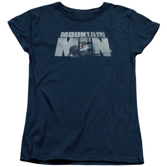Mountain Men Live For A Living Short Sleeve Womens Tee T-Shirt