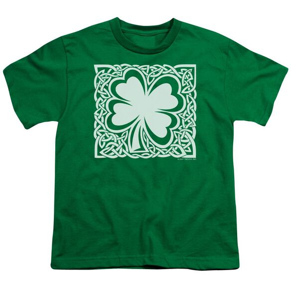 Celtic Clover Short Sleeve Youth Kelly T-Shirt