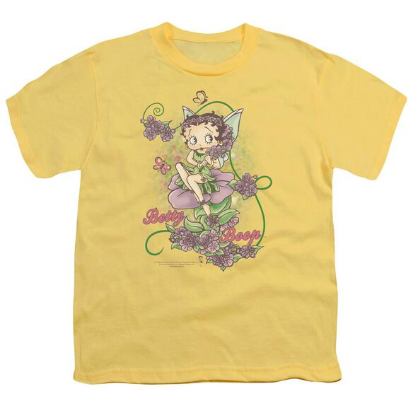 Betty Boop Flower Vine Fairy Short Sleeve Youth T-Shirt