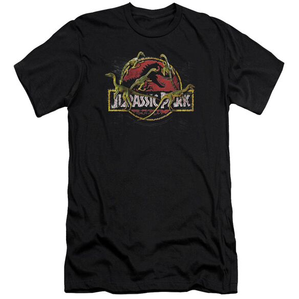 Jurassic Park Something Has Survived Premuim Canvas Adult Slim Fit