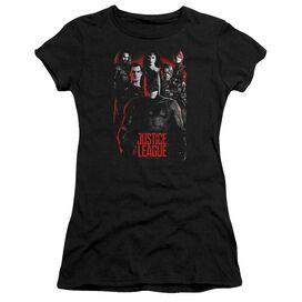 Justice League Movie The League Short Sleeve Junior Sheer T-Shirt