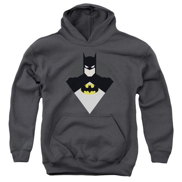 Batman Simple Bat Youth Pull Over Hoodie