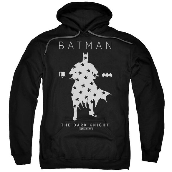 Batman Star Silhouette Adult Pull Over Hoodie