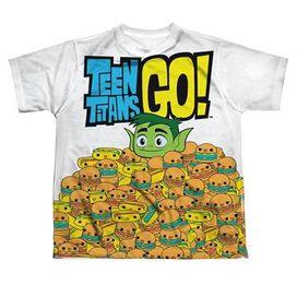 Teen Titans Go Burgers Dye Sub Youth T-Shirt