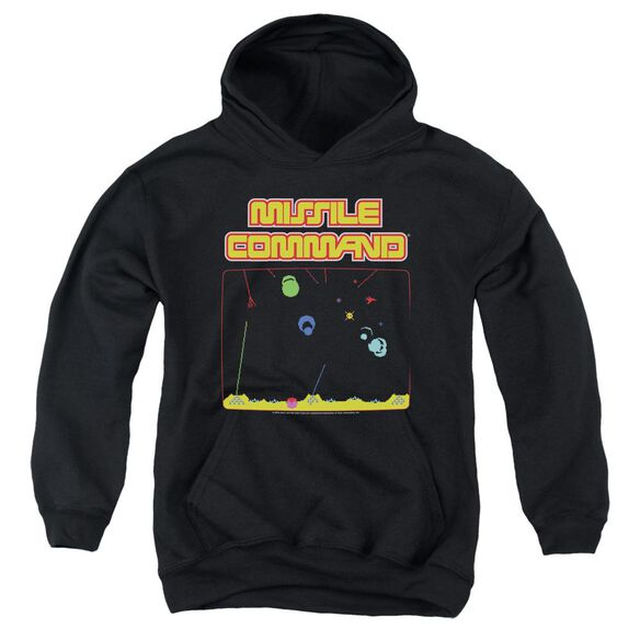 Atari Missle Screen Youth Pull Over Hoodie