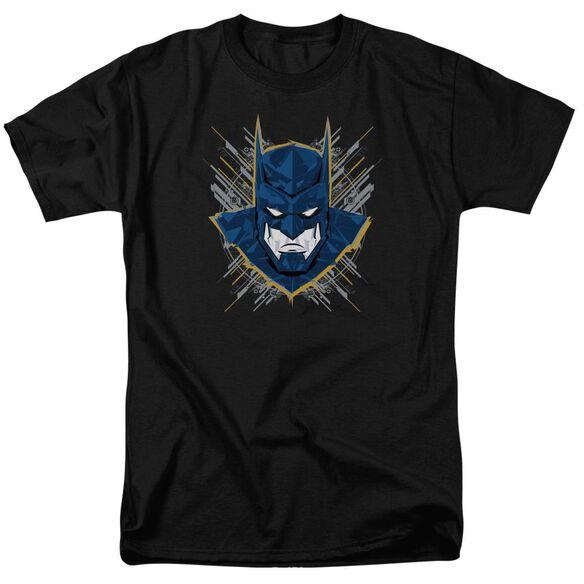 Batman Unlimited Bat Stare Short Sleeve Adult Black T-Shirt