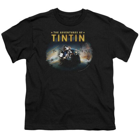 Tintin Journey Short Sleeve Youth T-Shirt