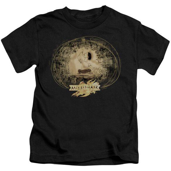 Mirrormask Sketch Short Sleeve Juvenile Black T-Shirt