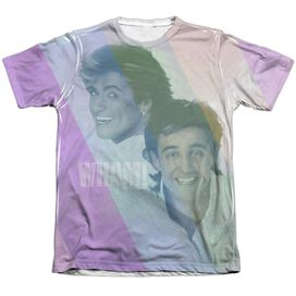 Wham Pastel Lines Adult Poly Cotton Short Sleeve Tee T-Shirt