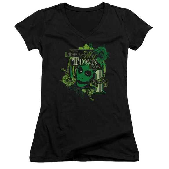 Dark Knight My Town Now Junior V Neck T-Shirt