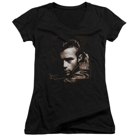 Dean Brown Leather Junior V Neck T-Shirt