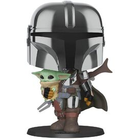 Funko Pop! Star Wars: Mandalorian - The Mandalorian Chrome 10-Inch