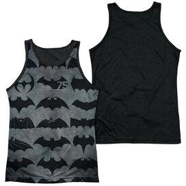 Batman 75 Symbols Adult Poly Tank Top Black Back