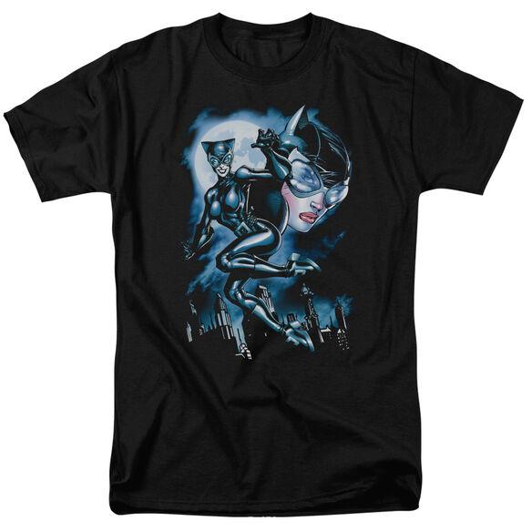 BATMAN MOONLIGHT CAT - S/S ADULT 18/1 - BLACK T-Shirt