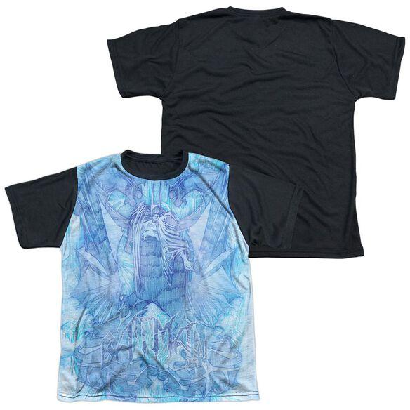 Batman Brooding Short Sleeve Youth Front Black Back T-Shirt