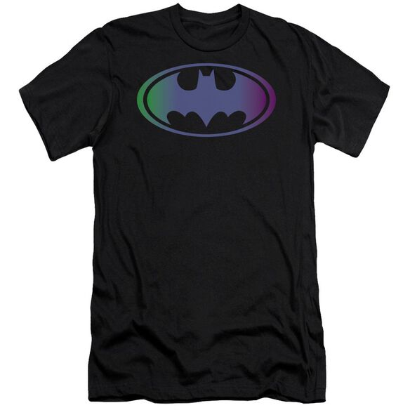 BATMAN GRADIENT BAT LOGO - S/S ADULT 30/1 - BLACK T-Shirt