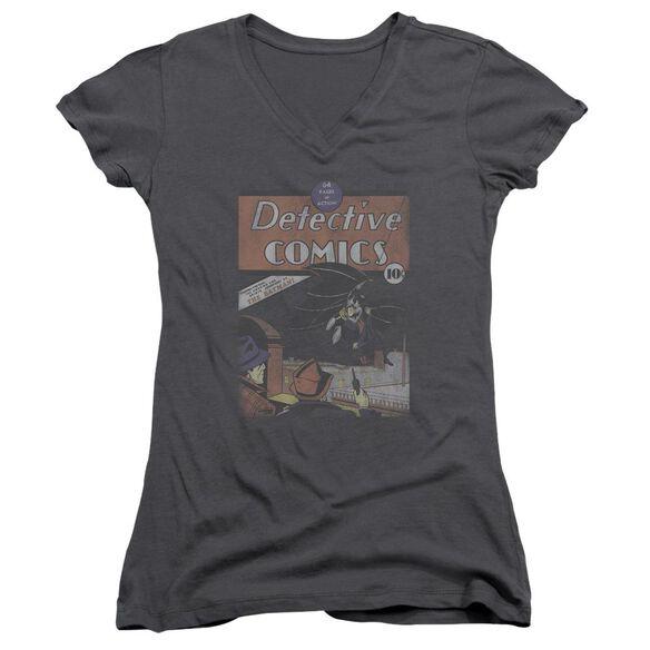 Dc Detective #27 Distressed Junior V Neck T-Shirt