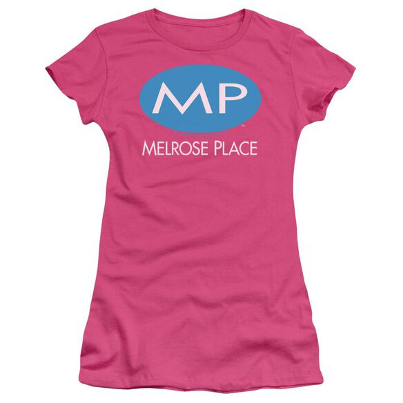 Melrose Place Melrose Place Logo Short Sleeve Junior Sheer Hot T-Shirt