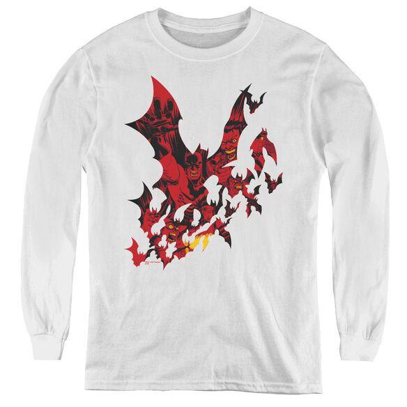 Batman Broken City - Youth Long Sleeve Tee - White