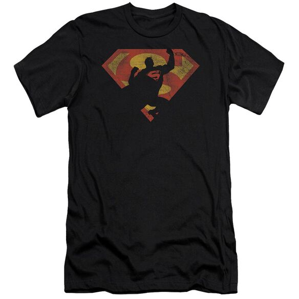 Superman S Shield Knockout Premuim Canvas Adult Slim Fit