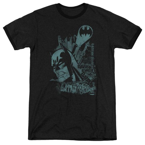 Batman Gritted Teeth Adult Heather Ringer