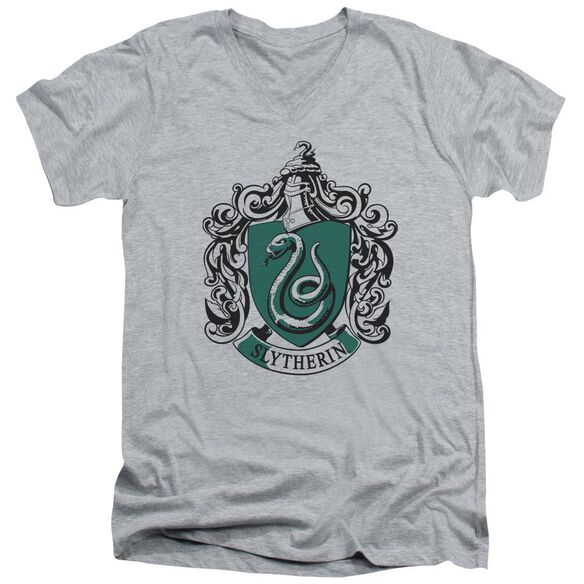 Harry Potter Slytherin Crest Short Sleeve Adult V Neck Athletic T-Shirt