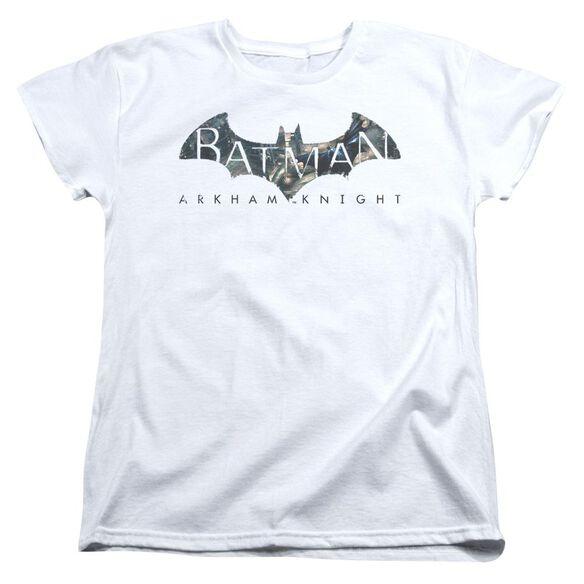 Batman Arkham Knight Descending Logo Short Sleeve Womens Tee T-Shirt
