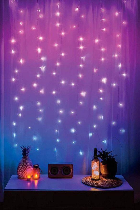Merkury Innovations LED Window Curtain String Ombre Lights