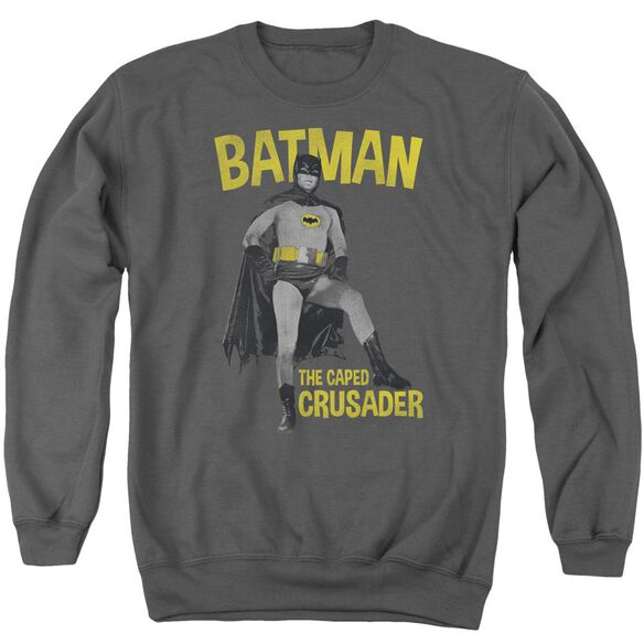 Batman Classic Tv Caped Crusader Adult Crewneck Sweatshirt