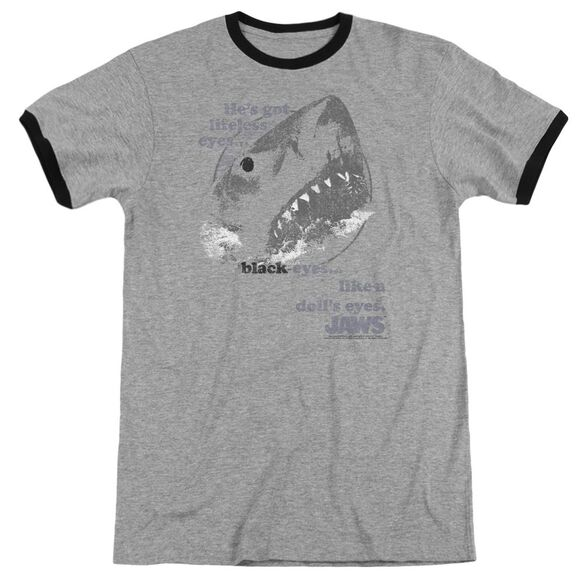 Jaws Like A Dolls Eyes Adult Ringer Heather Black