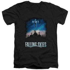 Falling Skies Main Players Short Sleeve Adult V Neck T-Shirt