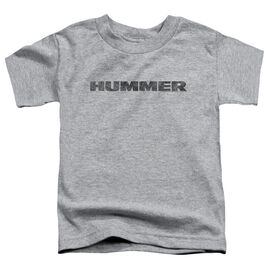 Hummer Distressed Hummer Logo Short Sleeve Toddler Tee Athletic Heather T-Shirt