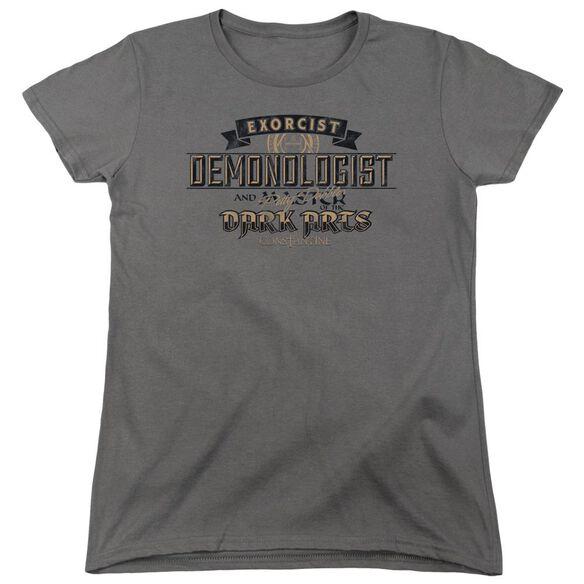 Constantine Demonologist Short Sleeve Womens Tee T-Shirt