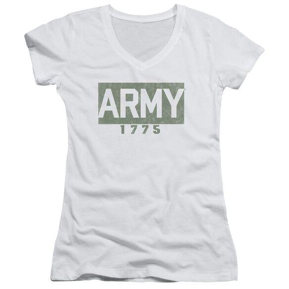 Army Block Junior V Neck T-Shirt