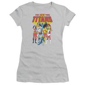 Dc New Teen Titans Short Sleeve Junior Sheer T-Shirt