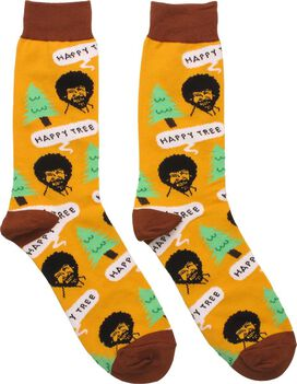 Bob Ross Happy Tree Crew Socks