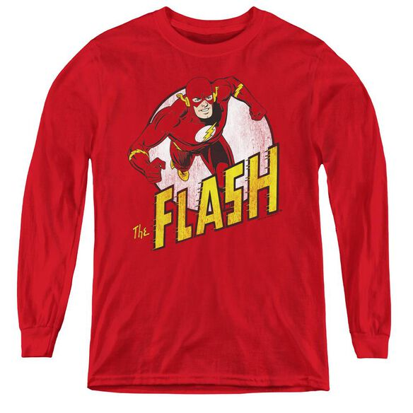Dc Flash The Flash - Youth Long Sleeve Tee - Red