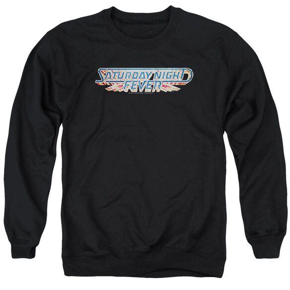 Saturday Night Fever Logo Adult Crewneck Sweatshirt