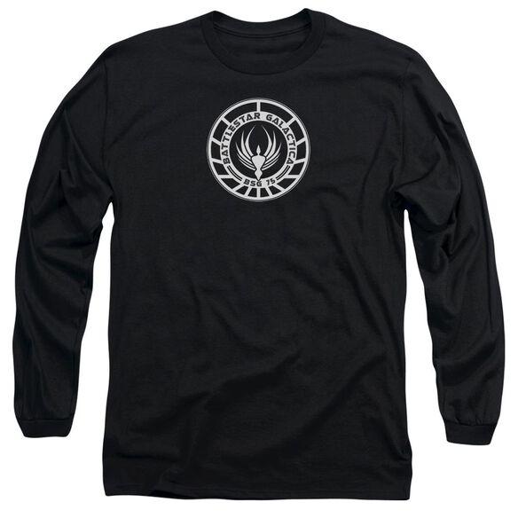 BSG GALACTICA BADGE - L/S ADULT 18/1 - BLACK T-Shirt