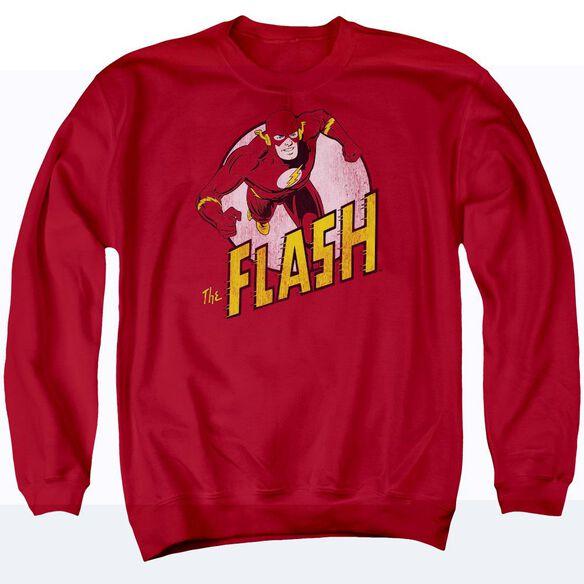 Dc Flash The Flash - Adult Crewneck Sweatshirt - Red