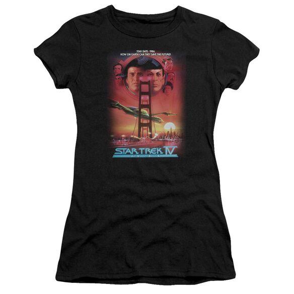 Star Trek The Voyage Home(Movie) Short Sleeve Junior Sheer T-Shirt