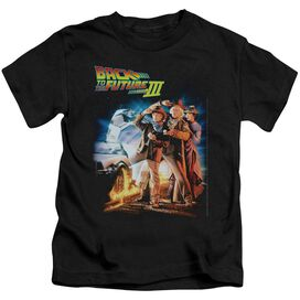 Back To The Future Iii Poster Short Sleeve Juvenile Black Black T-Shirt