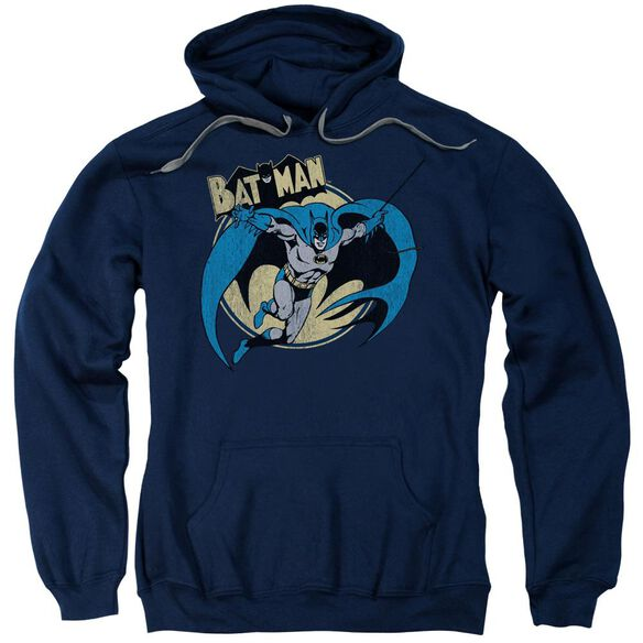 Batman Through The Night Adult Pull Over Hoodie