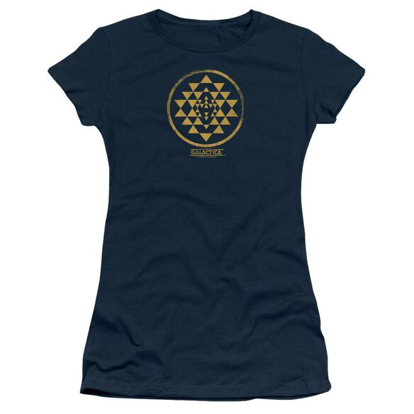 BSG GOLD SQUADRON PATCH - S/S JUNIOR SHEER - NAVY T-Shirt