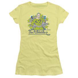 Dc Riddler Stars Short Sleeve Junior Sheer T-Shirt