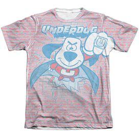 Underdog Burst Adult Poly Cotton Short Sleeve Tee T-Shirt