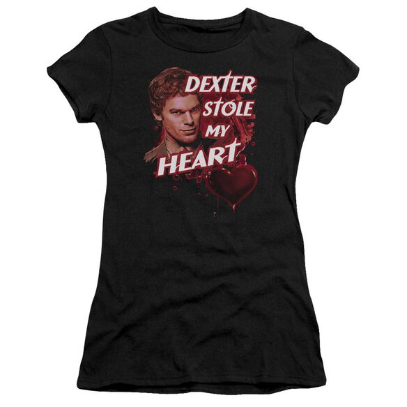 Dexter Bloody Heart Short Sleeve Junior Sheer T-Shirt