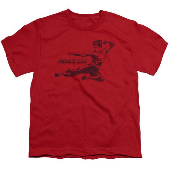 Bruce Lee Line Kick Short Sleeve Youth T-Shirt